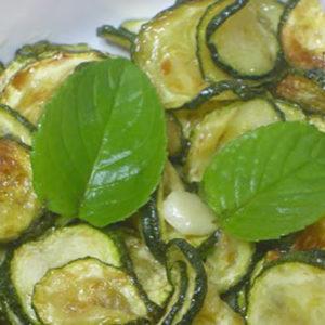 zucchine fritte con menta
